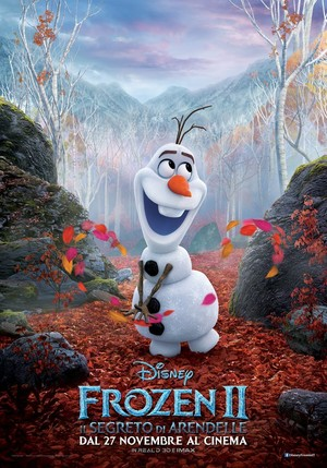 Frozen 2 Italian Character Poster - Olaf