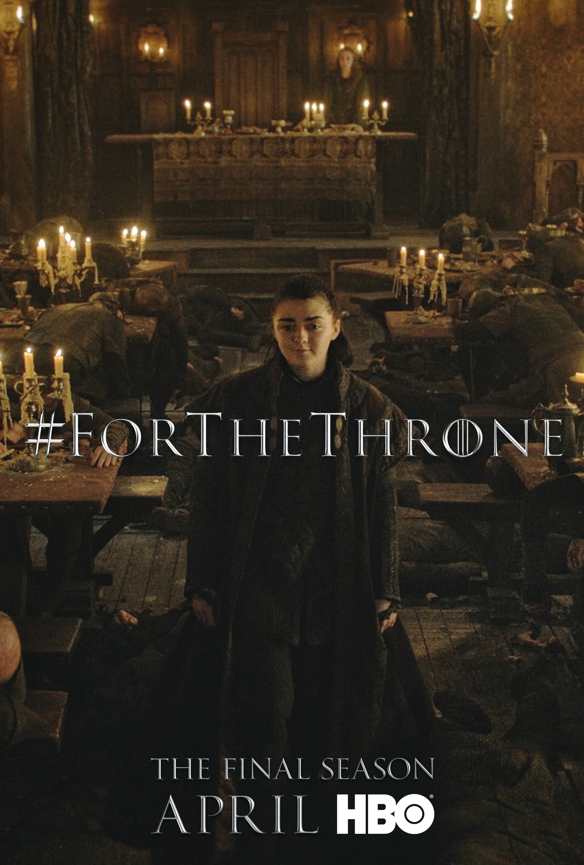 Game of Thrones - 'For the Throne' Poster - Arya Stark