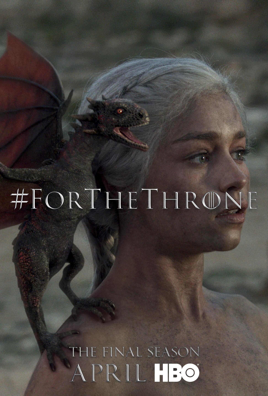 Game of Thrones - 'For the Throne' Poster - Daenerys Targaryen