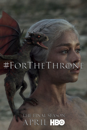 Game of Thrones - 'For the Throne' Poster - Daenerys Targaryen