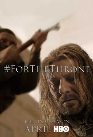 Game of Thrones - 'For the Throne' Poster - Ned Stark
