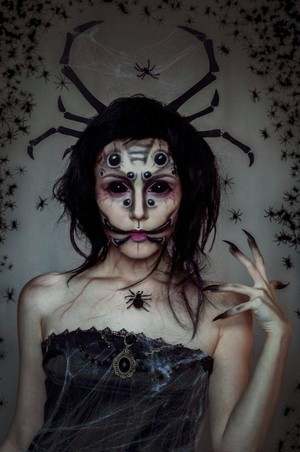 Halloween labah-labah makeup/costume🧡🎃🍂✨🖤🕷️