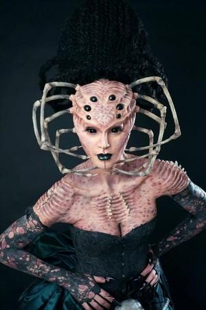 Halloween spin makeup/costume🧡🎃🍂✨🖤🕷️