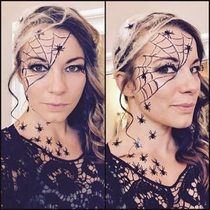 Halloween labah-labah makeup🧡🎃🍂✨🖤🕷️