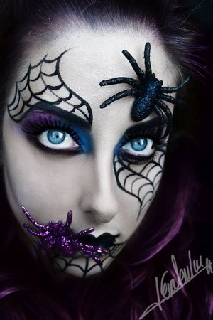 Halloween spider makeup🧡🎃🍂✨🖤🕷️