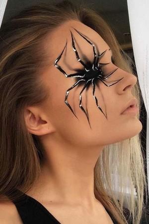 halloween araña makeup🧡🎃🍂✨🖤🕷️