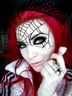 Dia das bruxas aranha makeup🧡🎃🍂✨🖤🕷️