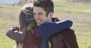 Hugs From Supergirl and the Flash