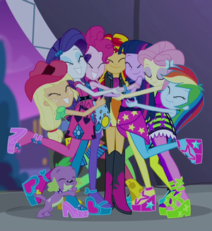 Hugs From the Equestria Girls