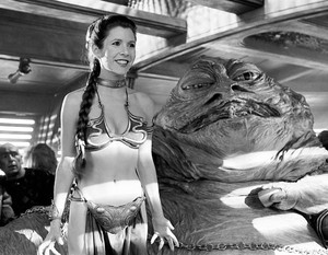 Jabba the Hutt and Slave Leia
