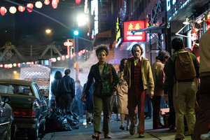 Joker (2019) Still - Joaquin Phoenix as Arthur Fleck and Zazie Beetz as Sophie Dumond