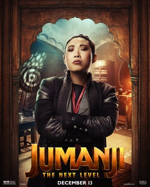 Jumanji: The Next Level (2019) Poster - Awkwafina as... the unnamed new girl.