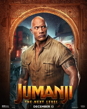 Jumanji: The পরবর্তি Level (2019) Poster - Dwayne Johnason as Dr. Smolder Bravestone