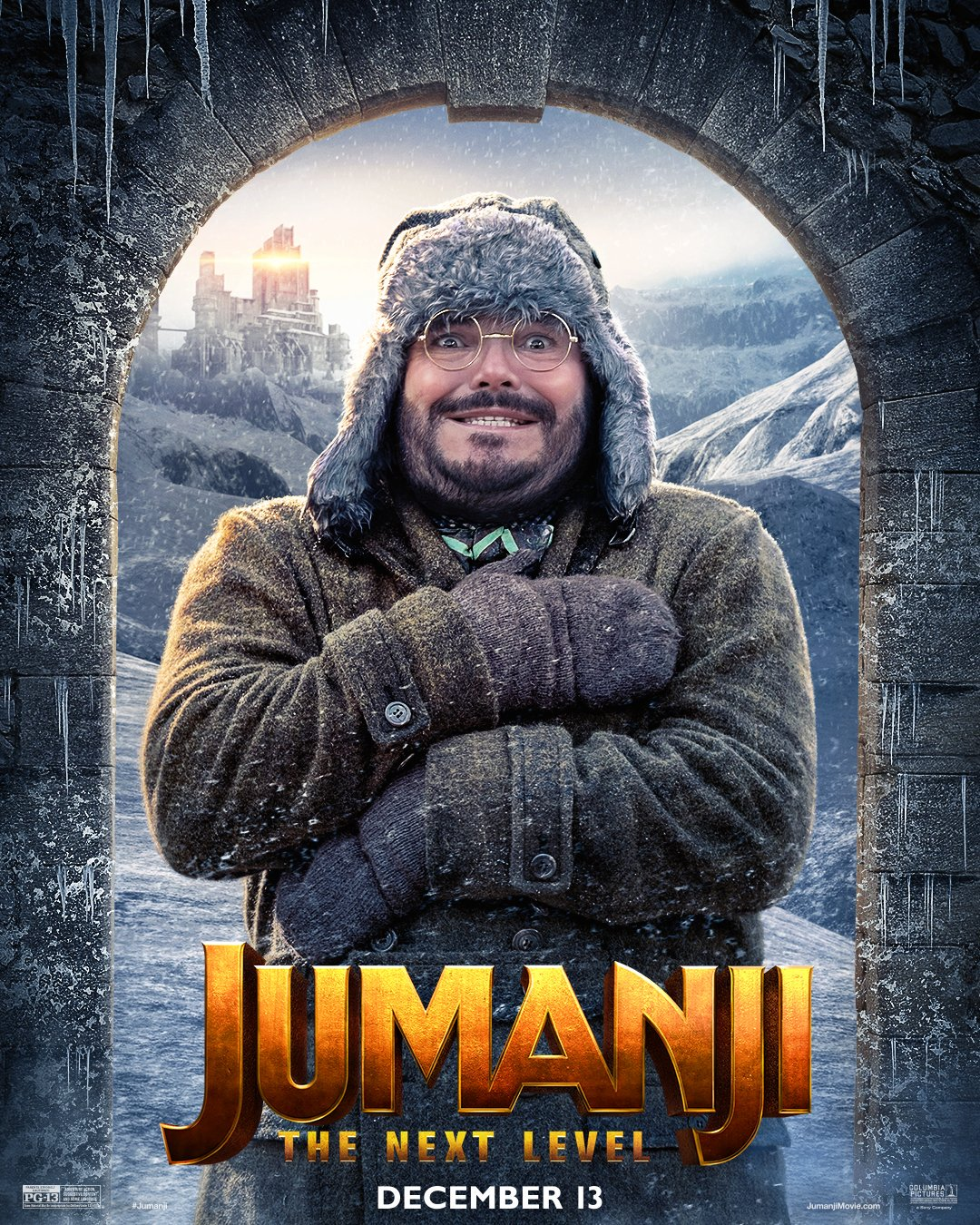 Jumanji: The Next Level (2019) Poster - Jack Black as Professor Shelly Oberon