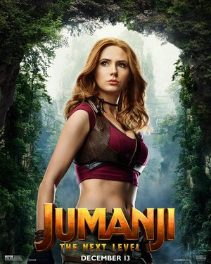 Jumanji: The Next Level (2019) Poster - Karen Gillan as Ruby Roundhouse
