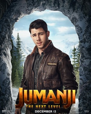 Jumanji: The 次 Level (2019) Poster - Nick Jonas as Jefferson 'Seaplane' McDonough