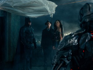 Justice League (2017) Still - Batman, Gordon, Wonder Woman and Cyborg