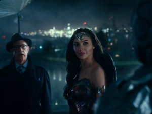 Justice League (2017) Still - Gordon and Wonder Woman