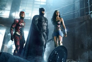 Justice League (2017) Still - The Flash, Batman and Wonder Woman