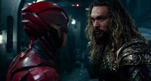 Justice League (2017) Still - The Flash and Aquaman