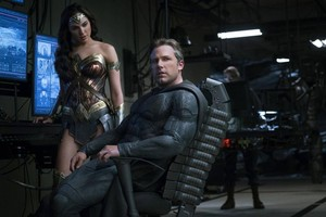 Justice League (2017) Still - Wonder Woman and Batman
