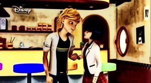Kagami Tsurugi and Adrien Agreste
