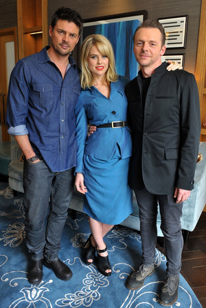 Karl Urban, Alice Eve and Simon Pegg - ster Trek: Into Darkness Photocall - 2013