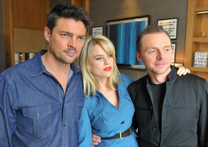 Karl Urban, Alice Eve and Simon Pegg - star, sterne Trek: Into Darkness Photocall - 2013