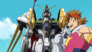 Kazami And Gundam Justice Knight