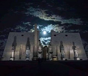 LUXOR THEBE TEMPLE IN EGYPT