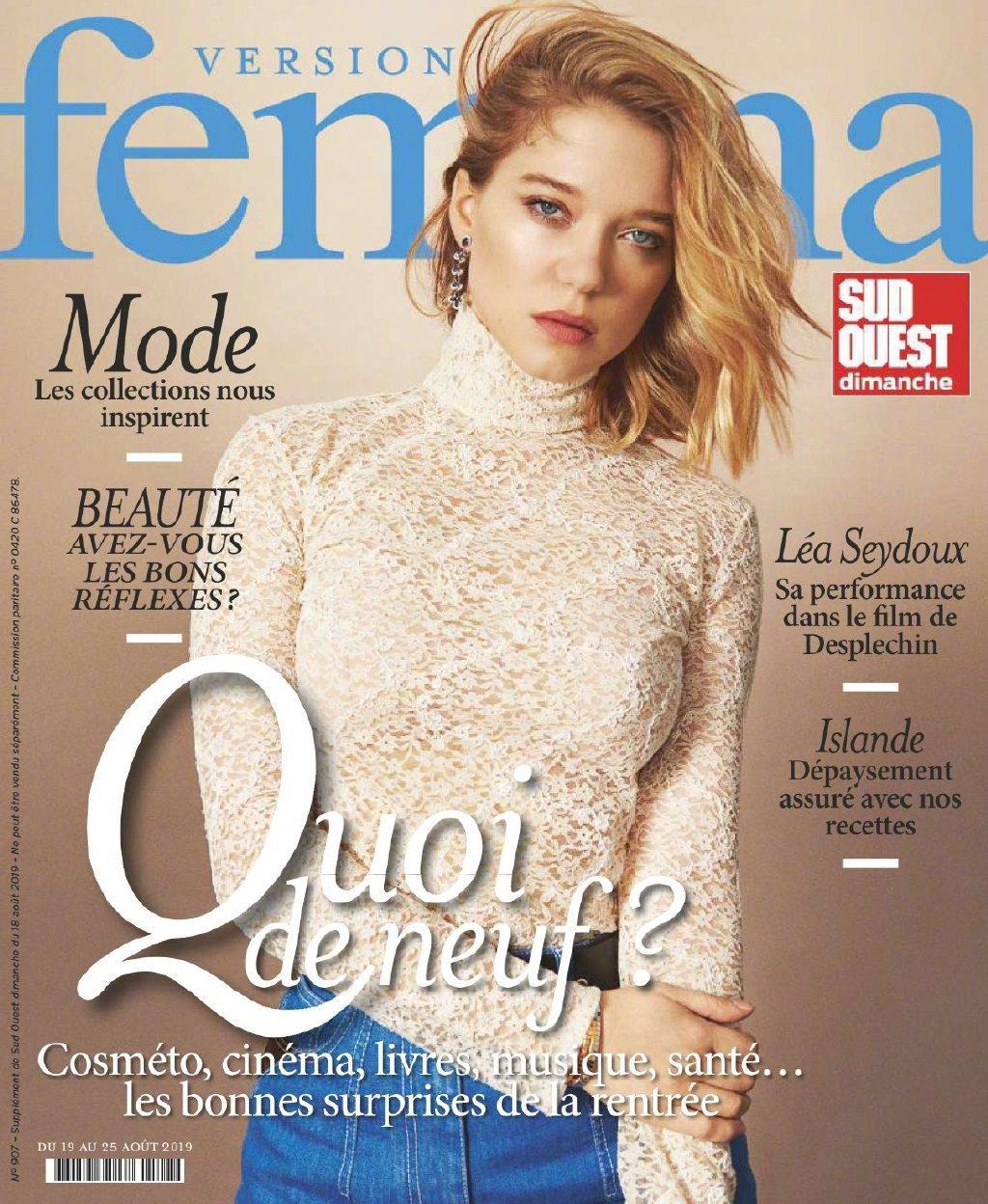 Lea Seydoux - Femina Magazine Cover - 2019