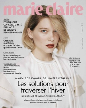 Lea Seydoux - Marie Claire France Cover - 2018