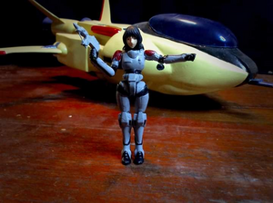"Marie ""Angel"" Crystal exclusive Light Veritech Fighter VF-8A Logan kwa Plastic Cretins (image A )"
