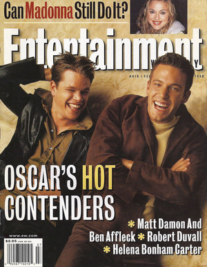Matt Damon and Ben Affleck - Entertainment Weekly Cover - 1998