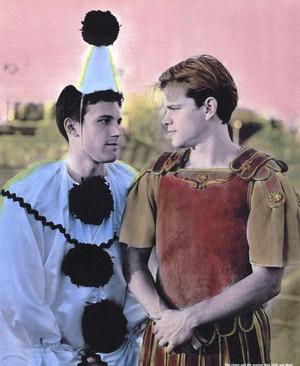 Matt Damon and Ben Affleck - Interview Magazine Photoshoot - 1997