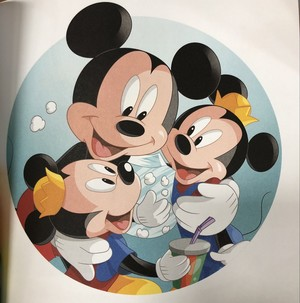 Mickey Mouse and his Twin Nephews Morty and Ferdie Fieldmouse
