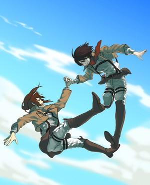 Mikasa and Sasha ~