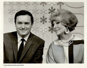 Mike Douglas and Agnes Moorehead
