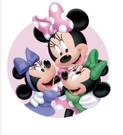 Minnie माउस and her Twin Nieces Millie and Melody माउस
