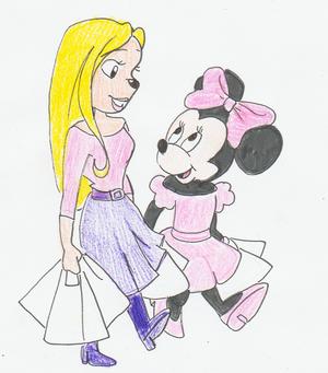 Minnie ratón & Heartfilia Macpoodle