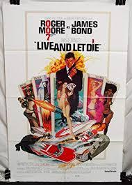 Movie Poster 1973 Film, Live And Let Die