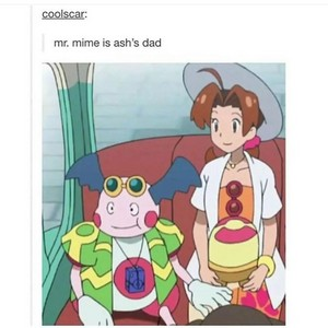 Mr mime is Ash's dad