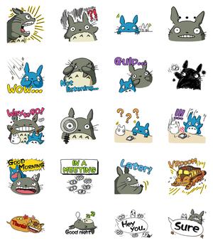 My Neighbor Totoro Line Stamps drawn sa pamamagitan ng Toshio Suzuki