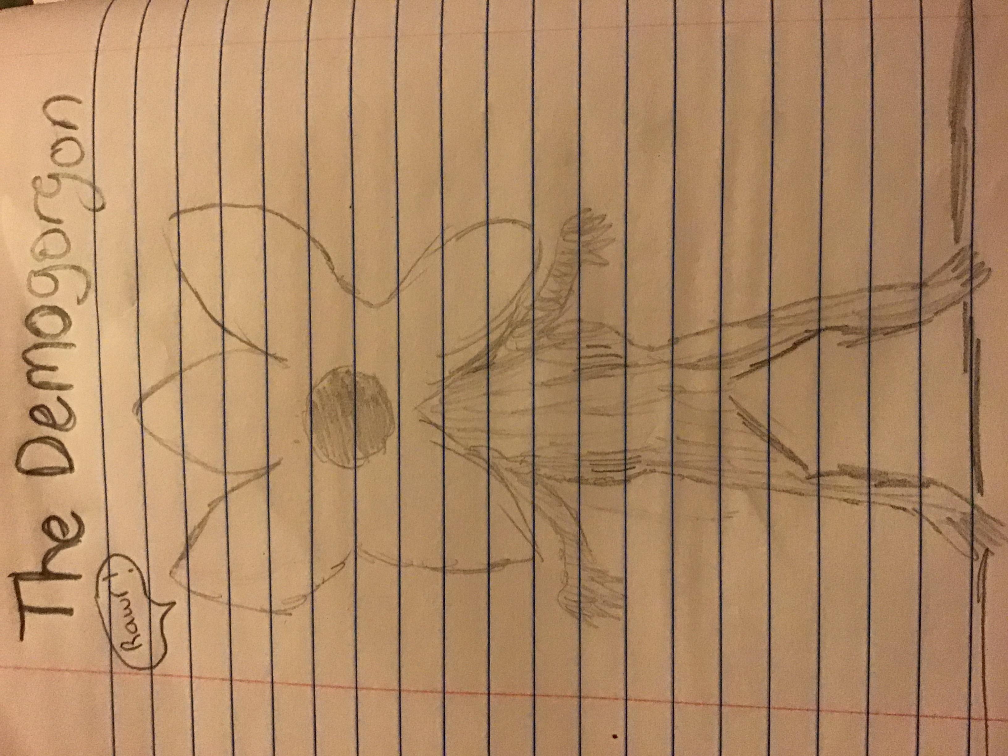 My fan art: The demogorgon
