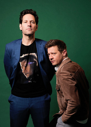 Paul Rudd and Jeremy Renner -Avengers: Endgame press (2019)