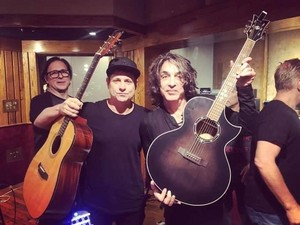 Paul Stanley re-records parts of SOUL STATION's album in Los Angeles (November 7, 2019)