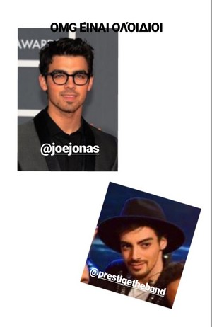 Prestige The Band's singer and Joe Jonas. Don't they look alike?