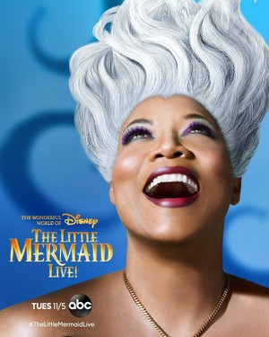 queen Latifah as Ursula in The Little Mermaid Live