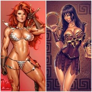 Red Sonja vs. Xena Warrior Princess