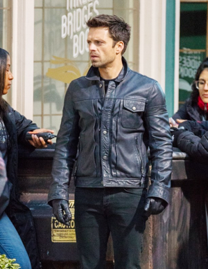Sebastian Stan on the set 'The 鹘, 猎鹰 and the Winter Soldier' on November 13, 2019